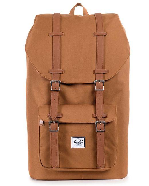 herschel supply co camel little america backpack 25 l in natural for men save 17 lyst. Black Bedroom Furniture Sets. Home Design Ideas
