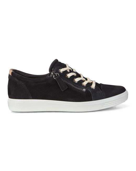 ecco soft 7 side zip sneaker