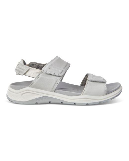Ecco White X-trinsic Flat Sandal Size