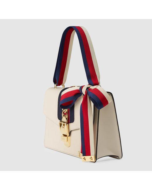 c2f8e775e6431c Gucci Sylvie Leather Shoulder Bag White   Stanford Center for ...