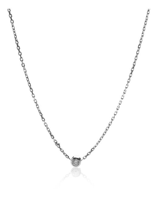RedLine | Metallic Pure White Gold Diamond Necklace | Lyst