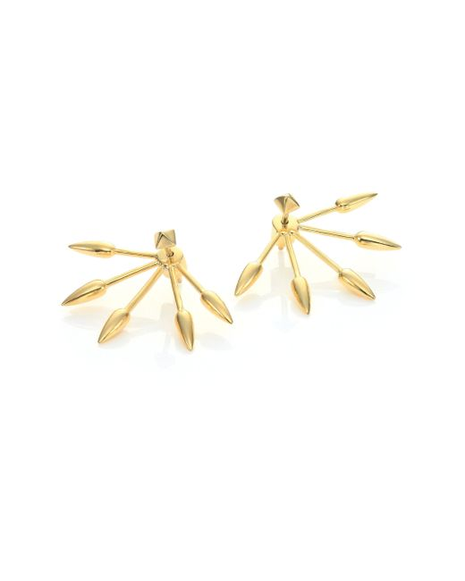 Pamela Love | Metallic Five-spike Ear Jacket & Stud Earrings Set | Lyst