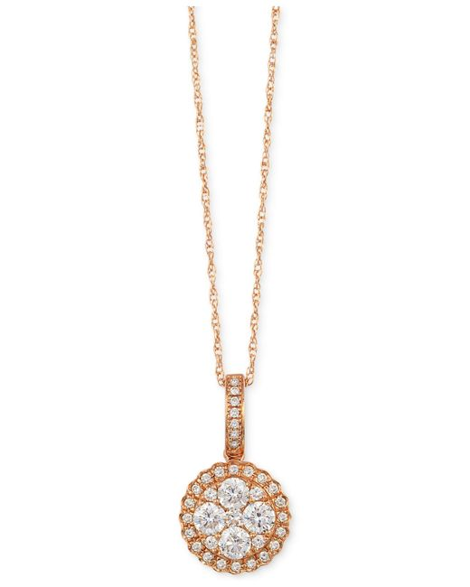 Le Vian | Metallic ® Diamond Circle Pendant Necklace (1/2 Ct. T.w.) In 14k Rose Gold | Lyst
