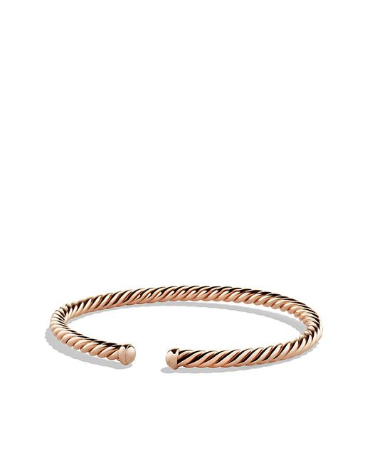 David Yurman | Pink Cable Spira Bracelet In 18k Rose Gold, 4mm | Lyst