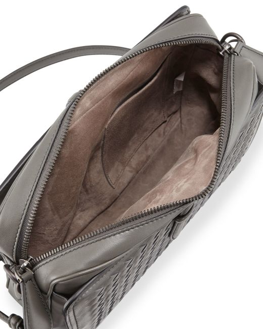 Bottega Veneta Medium Woven Camera Front Shoulder Bag In