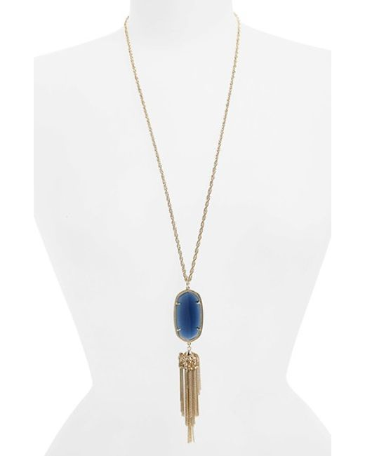 Kendra Scott | Blue 'rayne' Tassel Pendant Necklace | Lyst