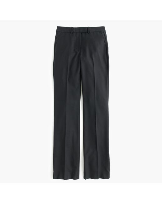 J.Crew | Black Petite Preston Pant In Super 120s Wool | Lyst