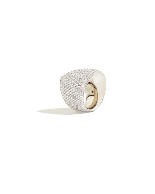 Vhernier | Metallic Editorialist Exclusive: Tonneau Ring In White Gold And White Diamonds | Lyst