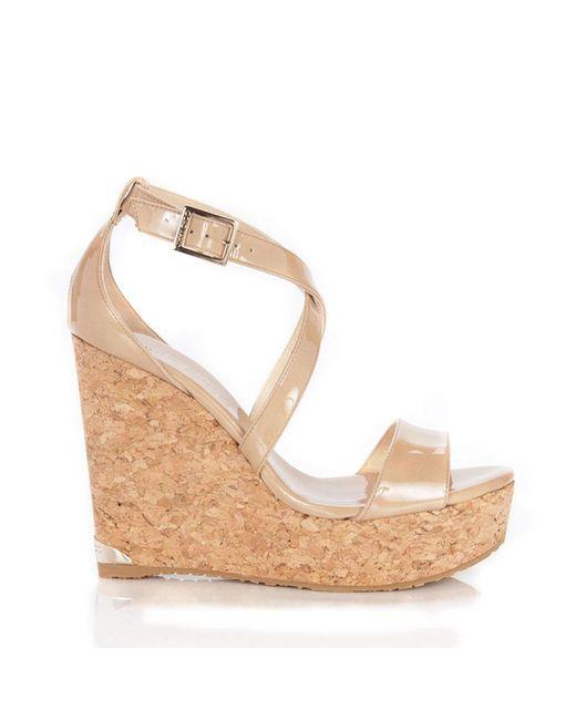 Jimmy Choo   Natural Portia Sandal   Lyst