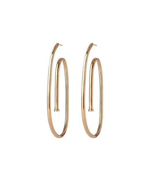 Jennifer Fisher - Metallic Large Pipe Hoop Earrings - Lyst