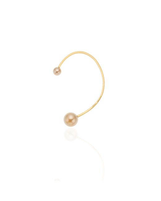 Chloé | Metallic Darcey Peach Pearl Ear Jewel | Lyst