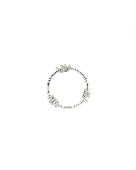 Lauren X Khoo | Editorialist Exclusive: Liberation 3-wire White Gold Ring | Lyst