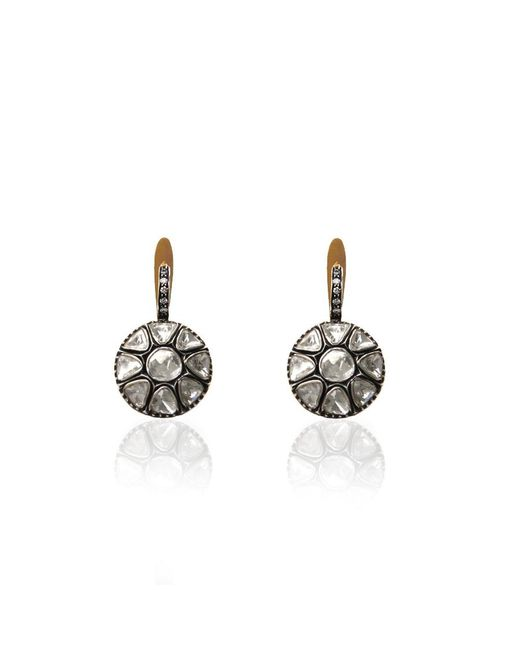 Sanjay Kasliwal | Multicolor Large Diamond Drop Earrings | Lyst