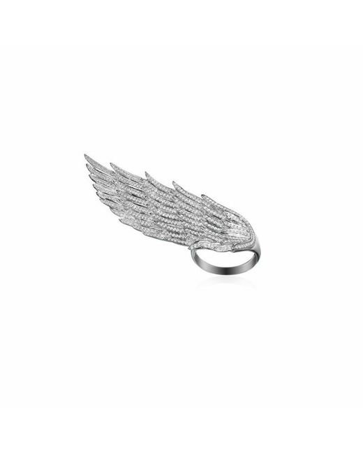 AS29 | White Long Wing Ring | Lyst