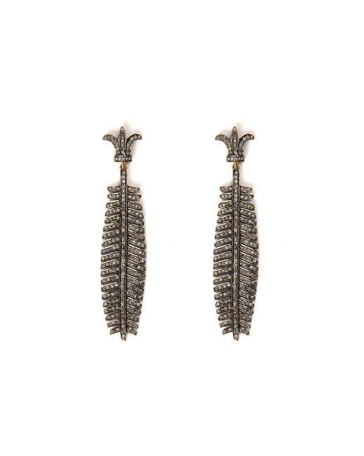 Sanjay Kasliwal | Metallic Pavé Palm Earrings | Lyst