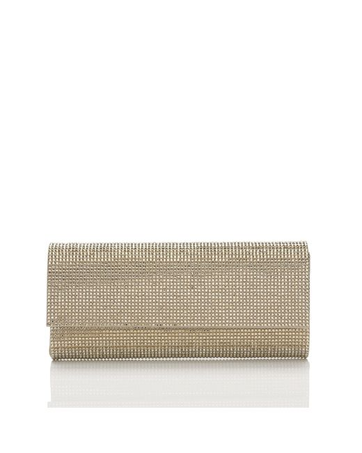 Judith Leiber Couture | Metallic Ritz Fitzz Envelope Clutch In Champagne | Lyst