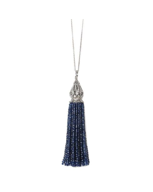 Sanjay Kasliwal | Blue Sapphire Tassel Necklace | Lyst