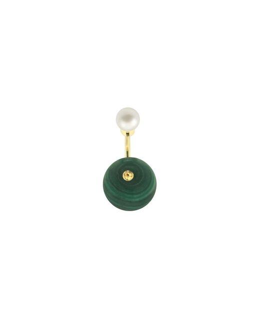 Delfina Delettrez | Green Stone-edge Piercing Earring | Lyst