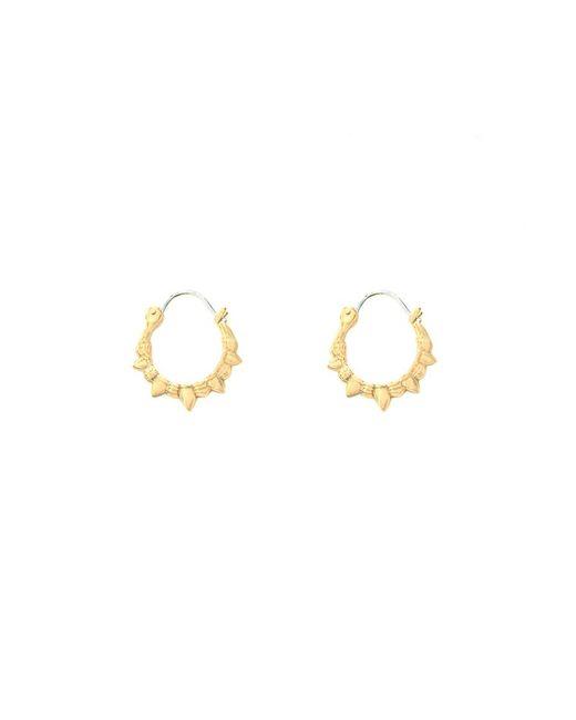 Pamela Love | Yellow Spike Hoop Earrings | Lyst
