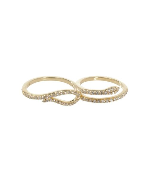 Khai Khai | Metallic Two Finger Serpent Ring | Lyst