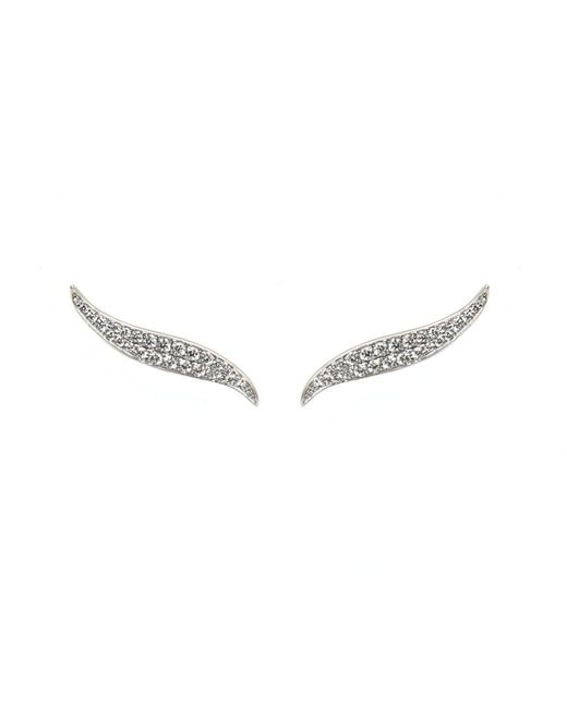 Anita Ko | Metallic White Gold And Diamond Petal Earrings | Lyst