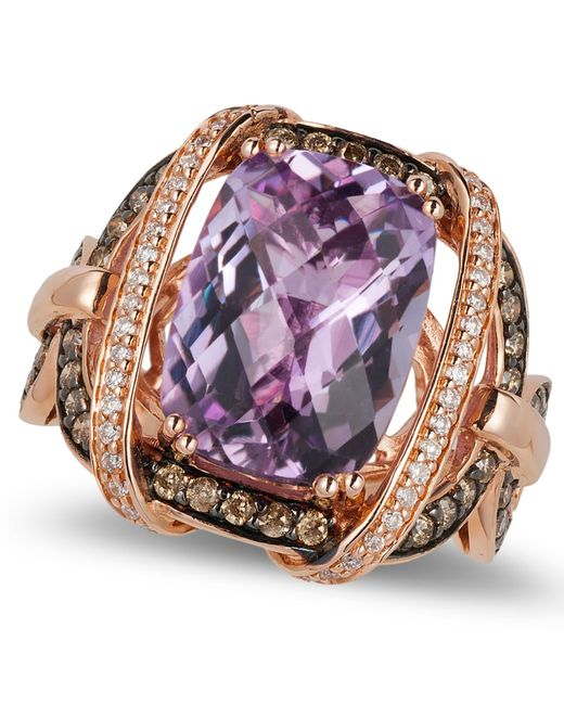 Le Vian | Pink Amethyst (5-2/4 Ct. T.w.) And Diamond (3/4 Ct. T.w.) Ring In 14k Rose Gold | Lyst