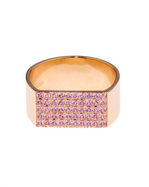 DINA KAMAL DK01 | Pink Sapphire & Yellow-Gold Id Ring | Lyst