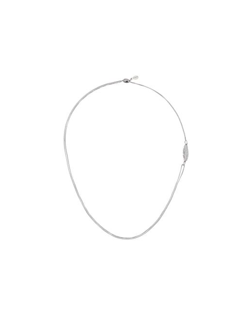 ALEX AND ANI | Metallic Precious Ii Collection Feather Adjustable Necklace | Lyst