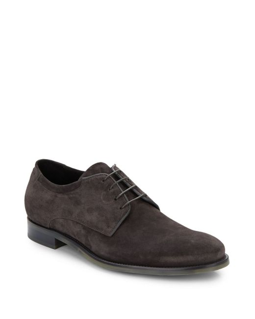 VINCE | Gray Manny Suede Derby Shoes for Men | Lyst