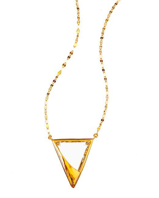 Lana Jewelry | Yellow 14k Elite Jetset Crystal Charm Necklace | Lyst