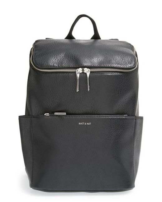 Matt & Nat | Black 'brave' Faux Leather Backpack | Lyst
