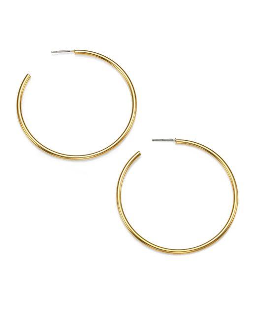 Kenneth Jay Lane | Metallic Classic Hoop Earrings/1.8 | Lyst