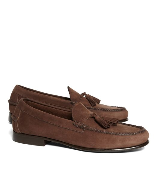 Brooks Brothers | Brown Unconstructed Tassel Loafers for Men | Lyst