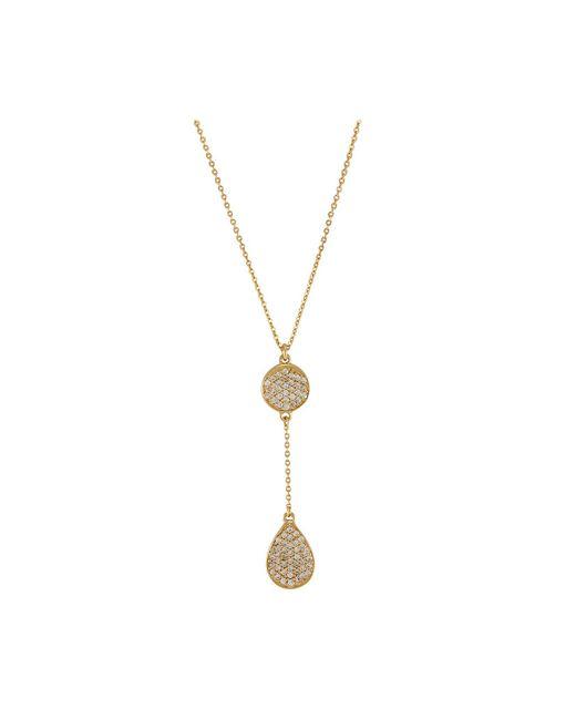 Melinda Maria | Metallic Clarence Pave Necklace | Lyst