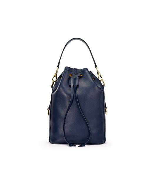 Ralph Lauren | Blue Ricky Napa Calfskin Bucket Bag | Lyst