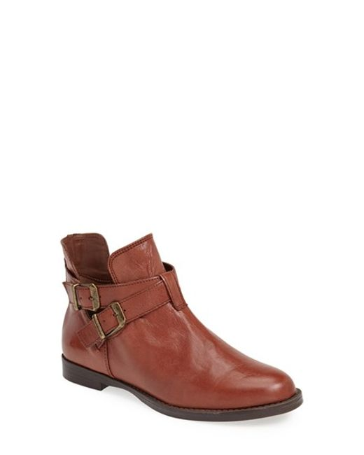 Bella Vita | Brown 'raine' Leather Bootie | Lyst