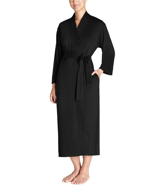 N Natori | Black Long Belted Robe | Lyst