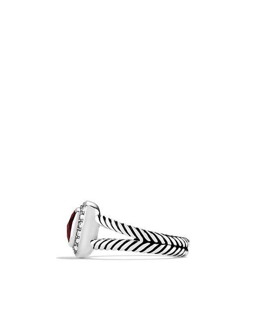 David Yurman | Metallic Petite Albion Ring With Pyrope Garnet And Diamonds | Lyst