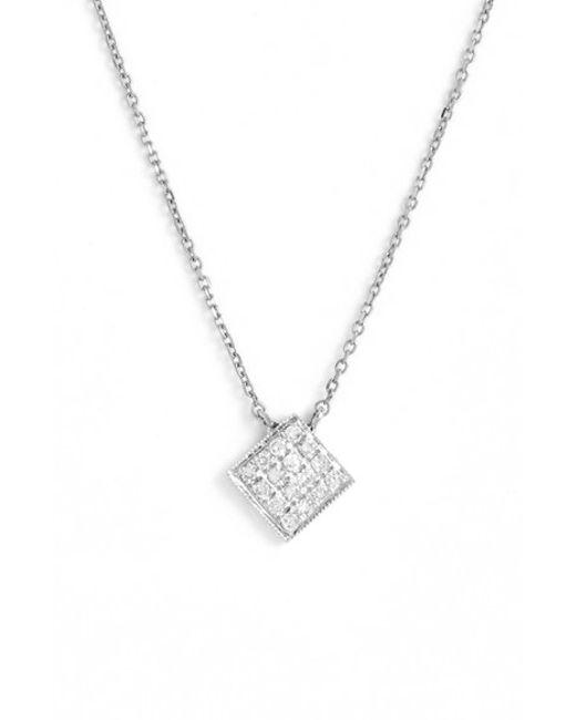 Dana Rebecca   Metallic 'lisa Michelle' Diamond Pave Square Pendant Necklace (nordstrom Exclusive)   Lyst
