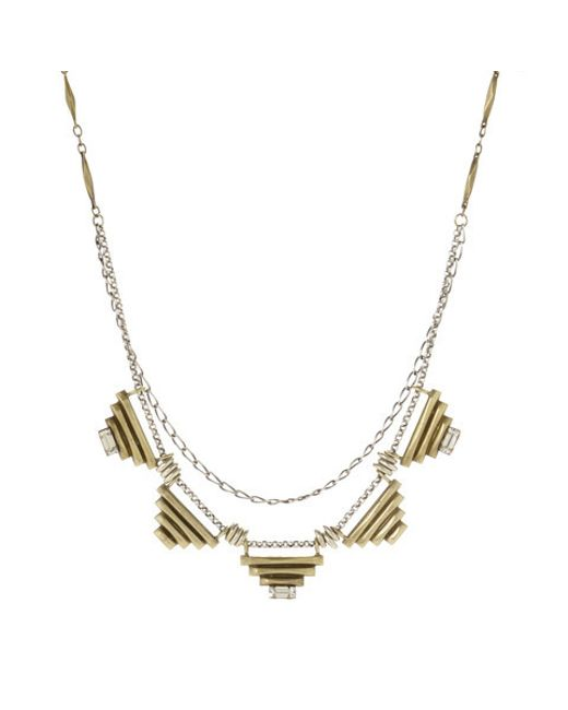 Bing Bang | Metallic Five Sacred Pyramids Necklace | Lyst