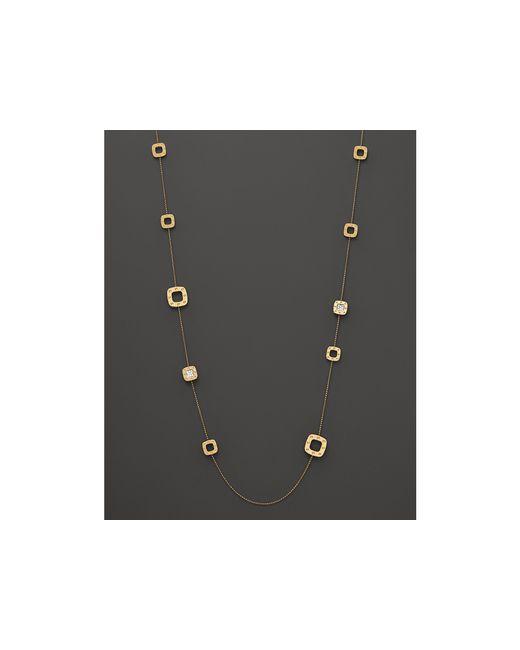 Roberto Coin | Metallic 18k Yellow Gold And Diamond Pois Moi Necklace, .48 Ct. T.w. | Lyst