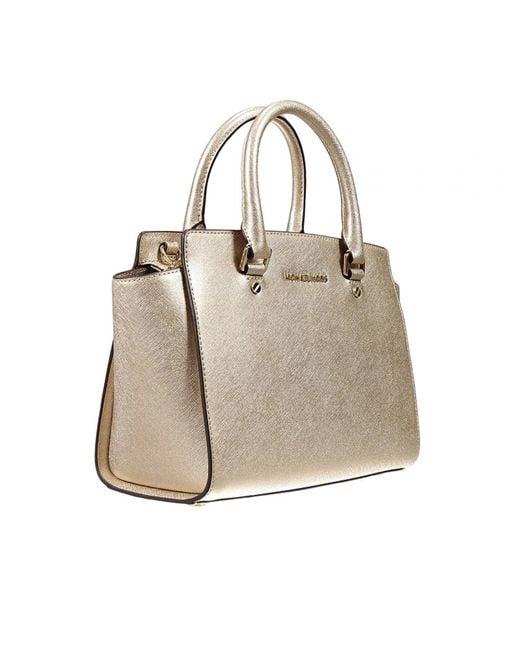 Michael Kors | Metallic Savannah Gold Large Tote Bag | Lyst
