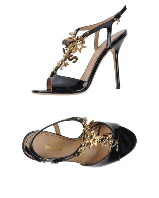 DSquared²   Black Sandals   Lyst