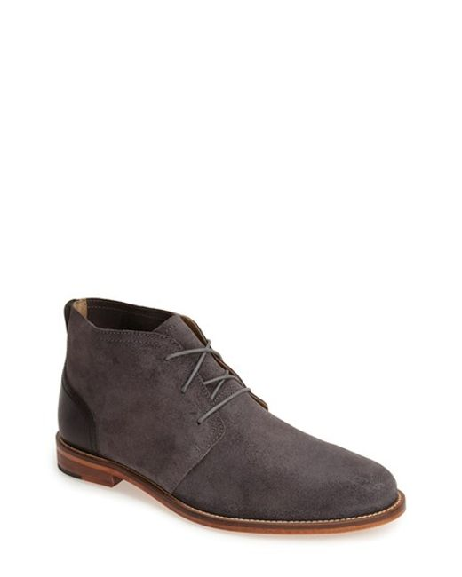 j shoes monarch chukka boot in gray for grey black