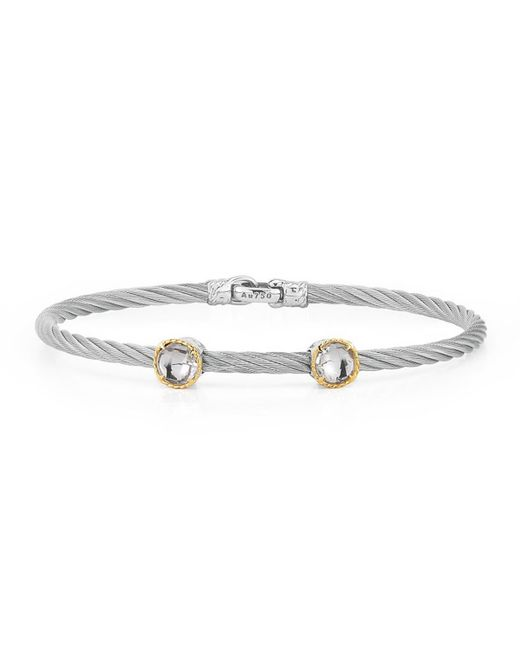 Alor | Metallic Double Topaz Station Cable Bracelet | Lyst