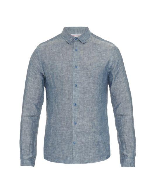 Orlebar Brown | Blue Morton Long-sleeved Linen Shirt for Men | Lyst