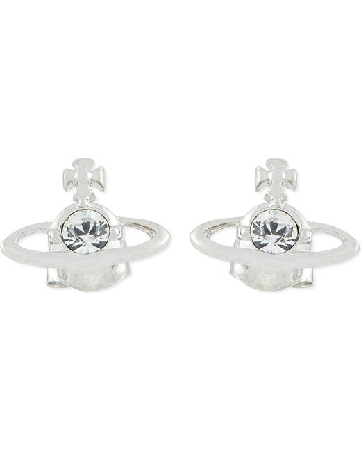 Vivienne Westwood | Metallic Nano Solitaire Earrings | Lyst