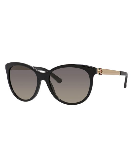 Gucci Cat Eye Acetate And Metal Sunglasses