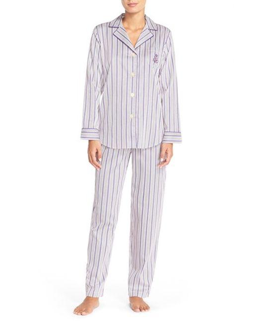 Lauren by Ralph Lauren | Purple Sateen Pajamas | Lyst