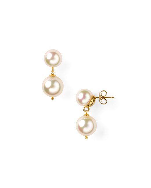 Majorica | Metallic Snowman Simulated Pearl Drop Earrings | Lyst